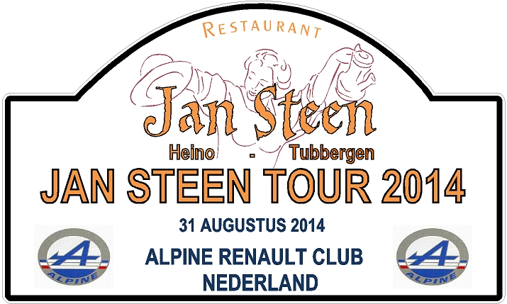 Jan Steen naar Jan Steen RENAULT APLINE tour tocht